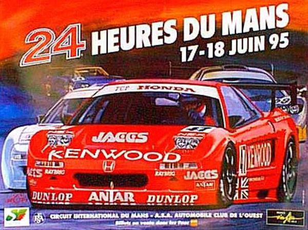 24 hours Le Mans 1995 Original Vintage F1 Racing Poster