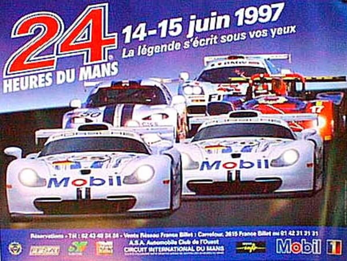 24 hours Le Mans 1997 Original F1 Racing Poster