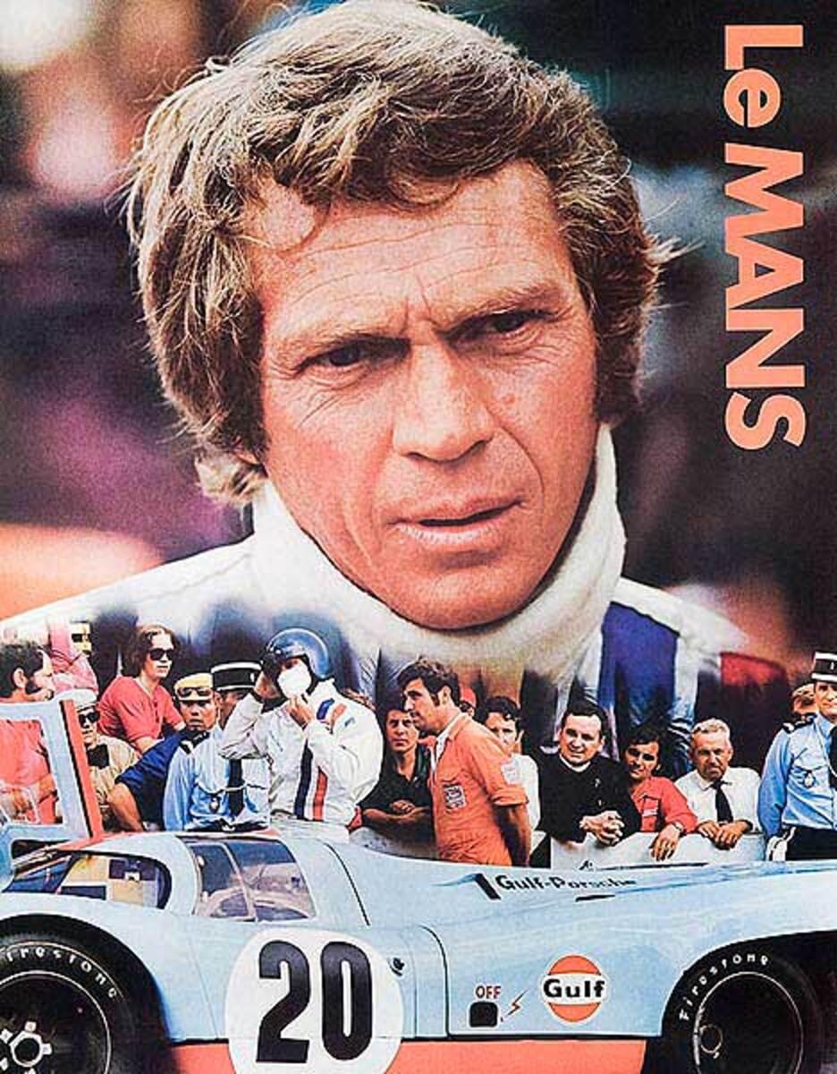 Steve McQueen Le Mans Original Vintage F1 Racing Poster