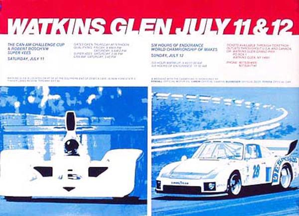 Watkins Glen Can Am Challenge Cup Original Vintage Motor Racing Poster