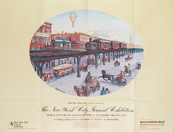 New York City (NYC) Transit Exhibition Original Vintage Poster