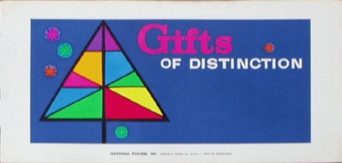 Stock Original Vintage Advertising Poster Gifts Of Distinction