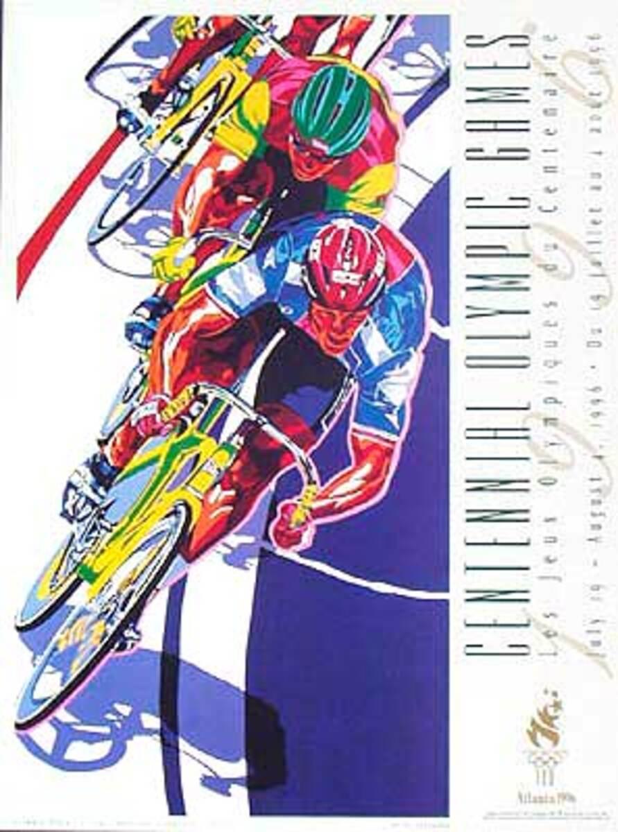 Original Vintage 1996 Atlanta Olympics Poster Track Cycling (Yamagata)