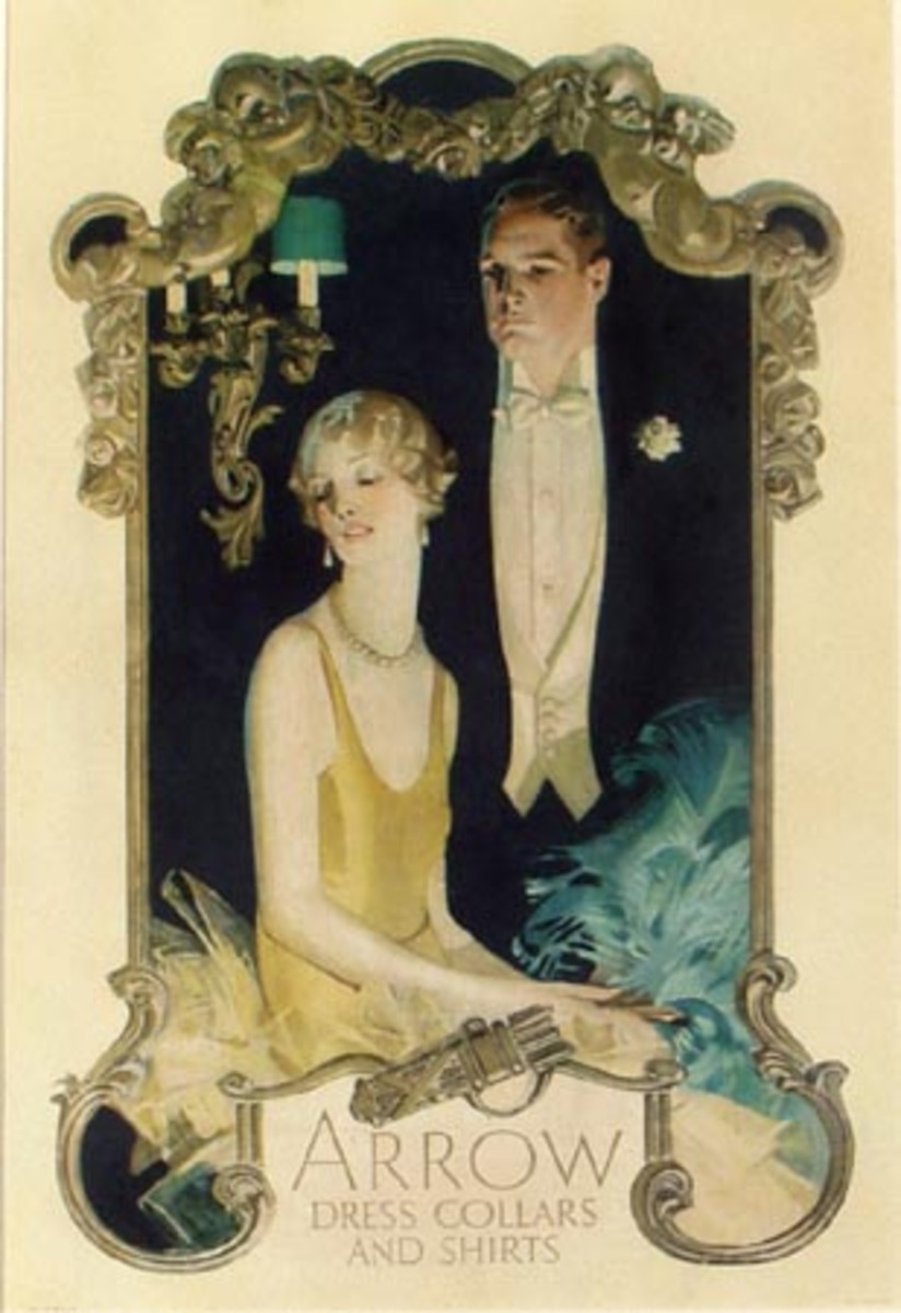 Arrow Collar Leyendecker Original Vintage Advertising Poster