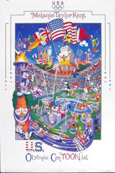 Centoonial Original Vintage 1996 Atlanta Olympics Poster