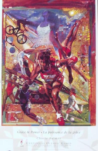 Grace and Power Original Vintage 1996 Atlanta Olympics Poster
