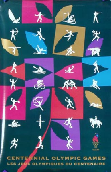 Icons Original Vintage 1996 Atlanta Olympics Poster