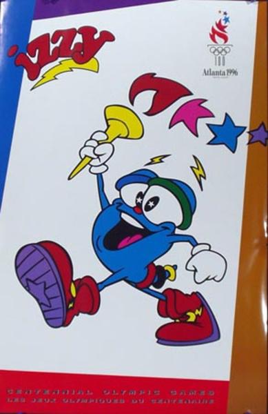 Izzy Original Vintage 1996 Atlanta Mascot Olympics Poster