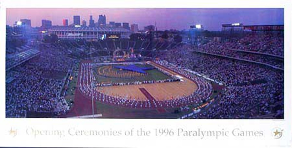 1996 Paralympics Original Vintage Sports Poster Opening Ceremonies Photo