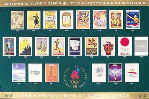 100 Years of Olympic Games poster of posters Original Vintage 1996 Atlanta Olympics Poster