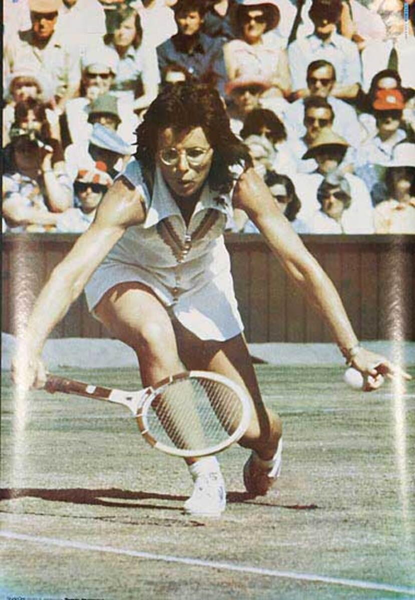 Billie Jean King Original Tennis Poster