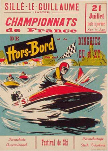 Original Vintage Boat Race Poster July 21