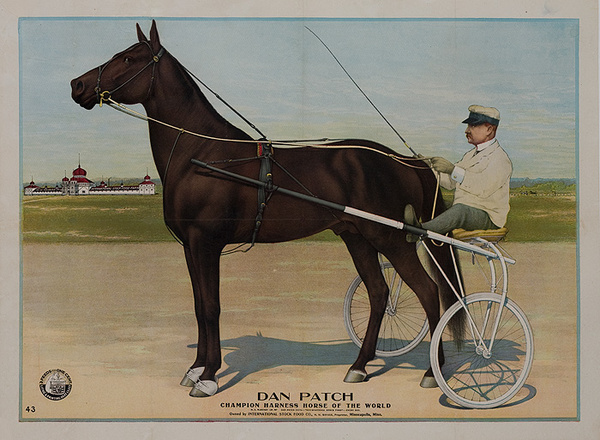 Dan Patch Champion Harness Horse of the World Owned by International Stock Food Company Original American Advertising Poster