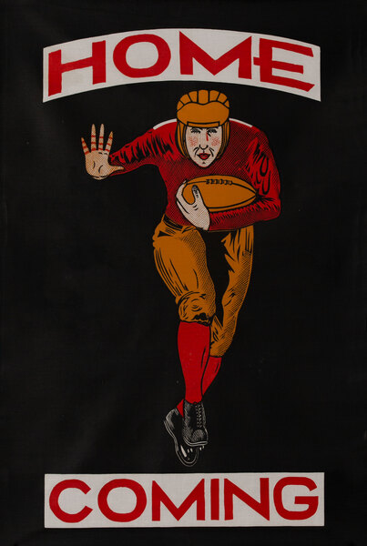 Original Early 1920's [[Football]] Poster Home Coming