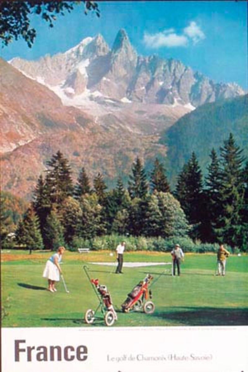 Golf in France Original Vintage Travel Poster