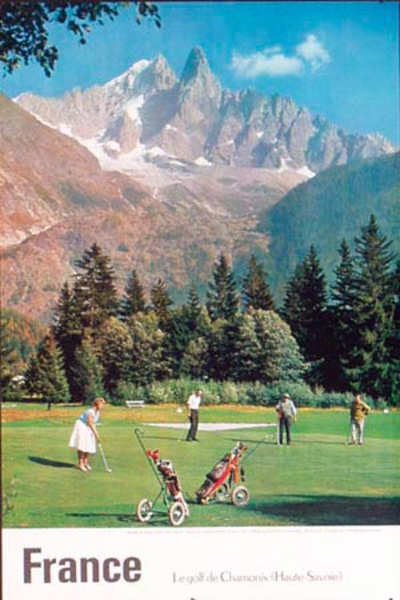 [[Golf]] in France Original Vintage Travel Poster