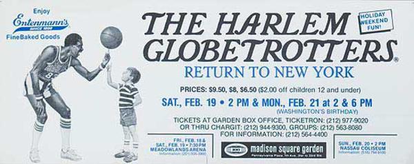 The Harlem Globetrotters Return To [[New York]] Original Advertising Poster