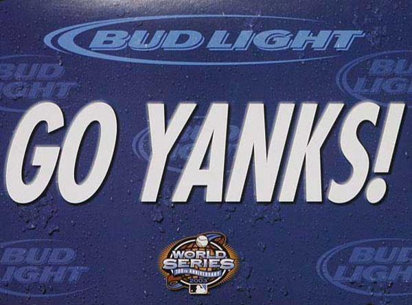 GO YANKS! 2003 World Series Souvenir Poster