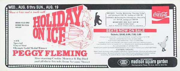 Holiday On Ice Peggy Fleming Original Madison Square Gerden Advertsing Poster
