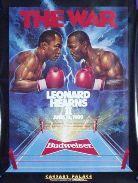The War Leonard Hearns II Original Vintage Boxing Poster