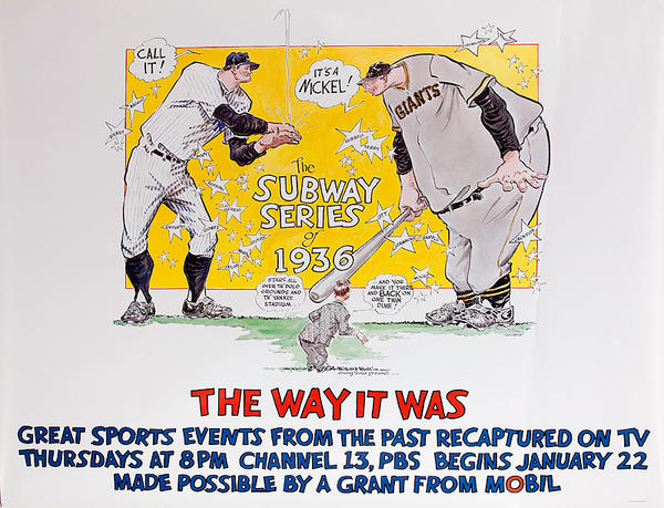The Way It Was Great Sports Events From The Past, Mobil PBS Advertising Poster