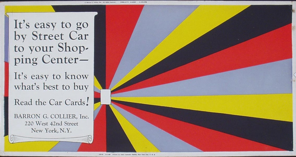 Street Card Card Avertising Original Vintage Poster read