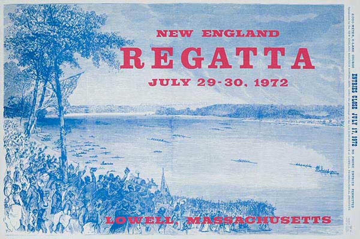 New England Regatta 1972 blue Original Poster