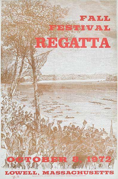 New England Regatta 1972 brown Original Poster