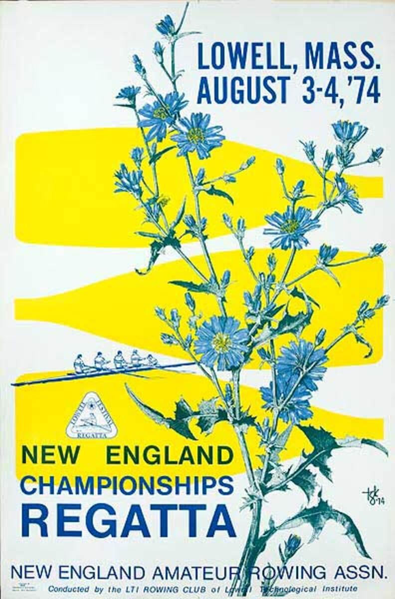 New England Regatta 1974 Original Poster