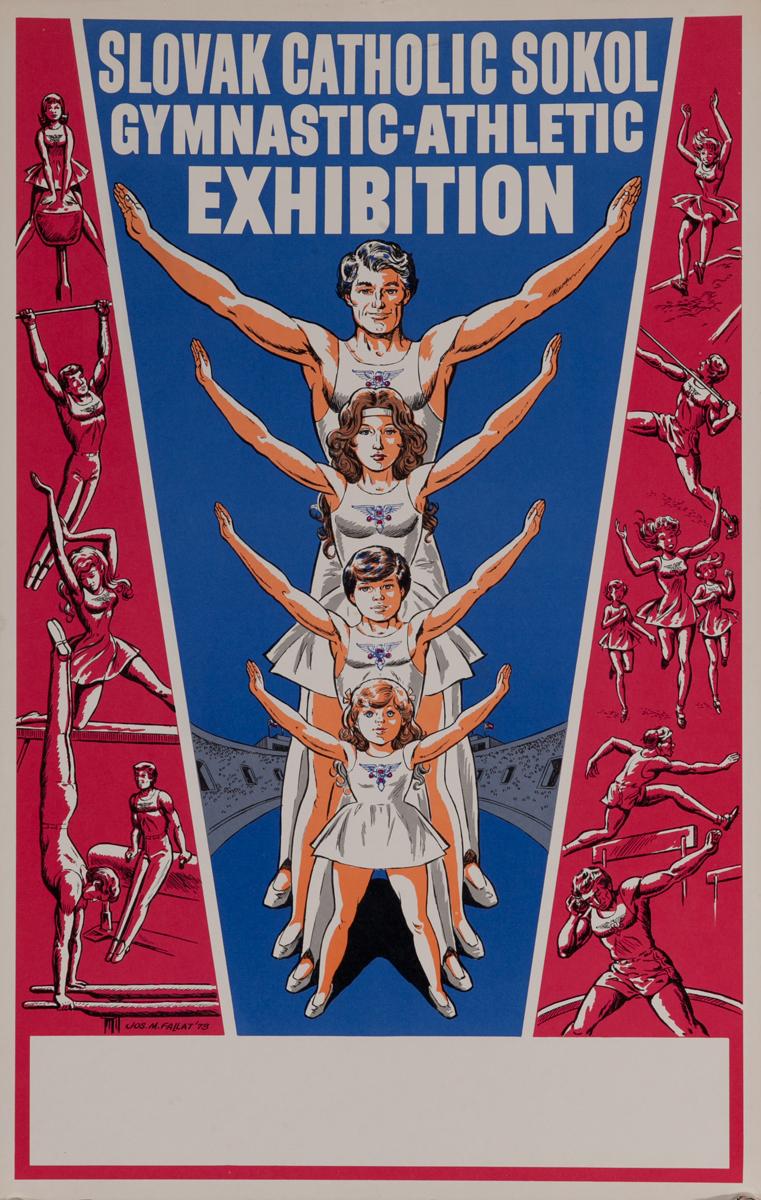 Slovak School Gymnastic Event Original Poster Family