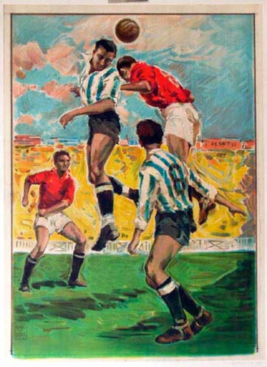 Spanish Soccer Poster Ortega