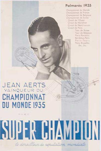 Super Champion Jean Aerts Original Bicycle Racing Poster
