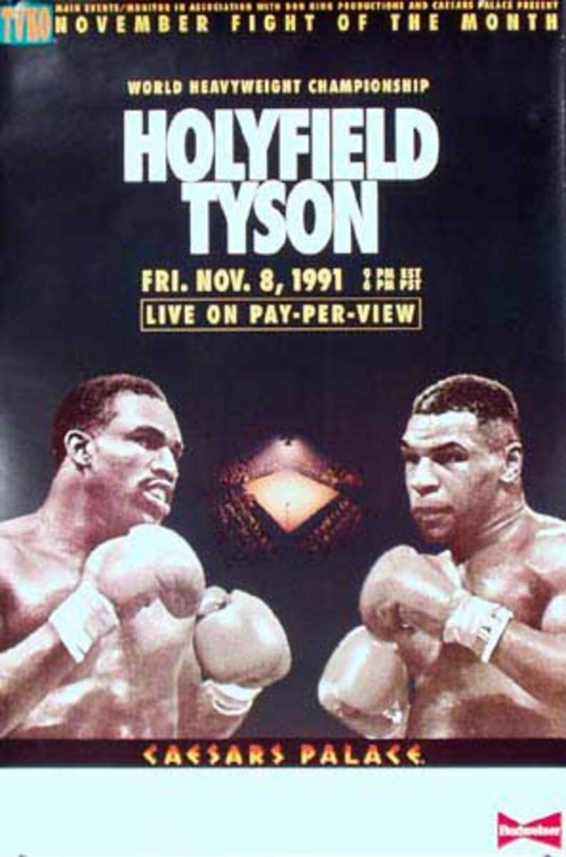 Tyson HolyField Original Vintage Sports Boxing Poster