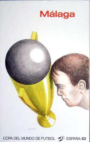 World Cup Soccer Spain 1982 Original Poster Malaga