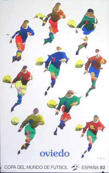 World Cup Soccer Spain 1982 Original Poster Oviedo