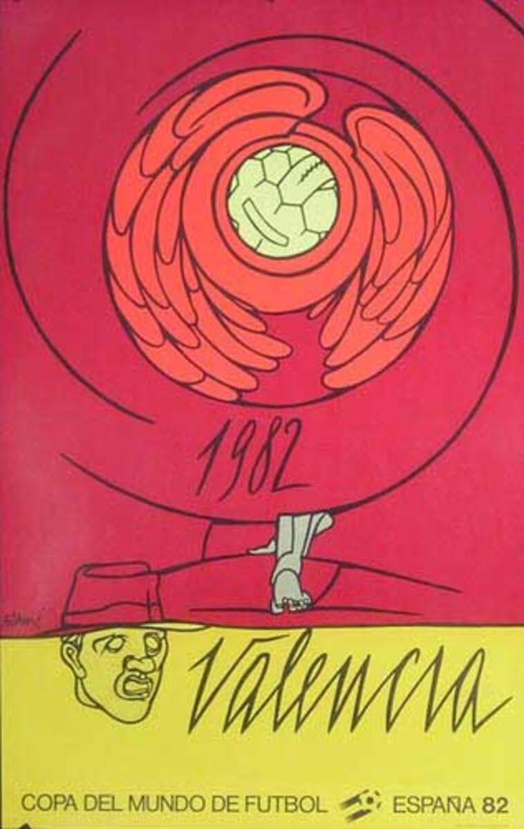 World Cup Soccer Spain 1982 Original Poster Valencia