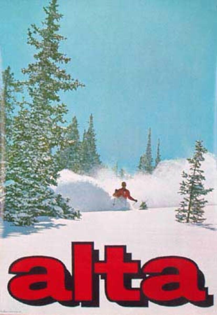 Alta Original Vintage Ski Poster