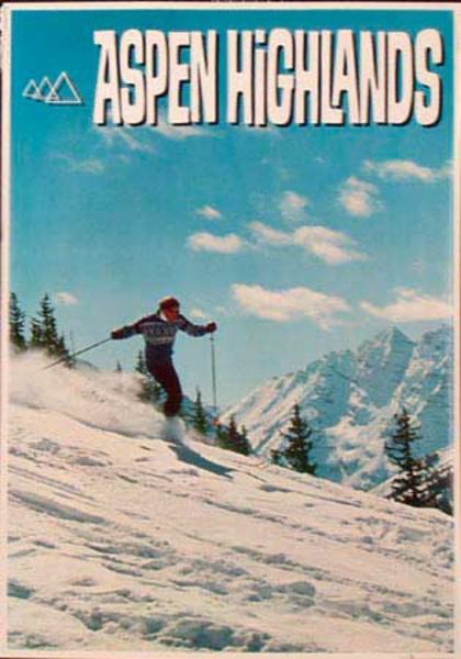 Aspen Highlands Original Vintage Ski Poster
