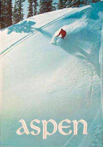 Aspen Original Vintage Ski Poster