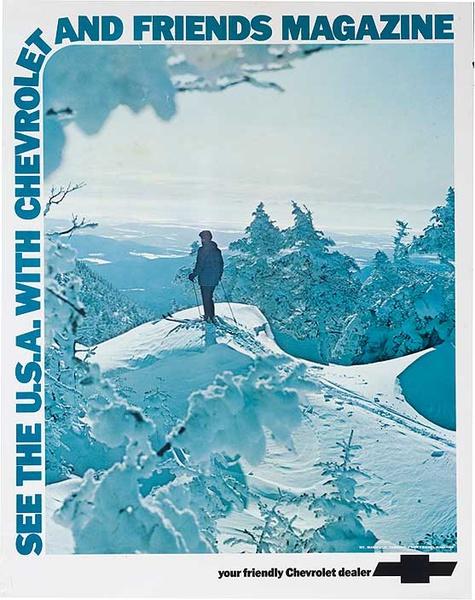 See the USA Original Chevrolet Ski Advertising Poster