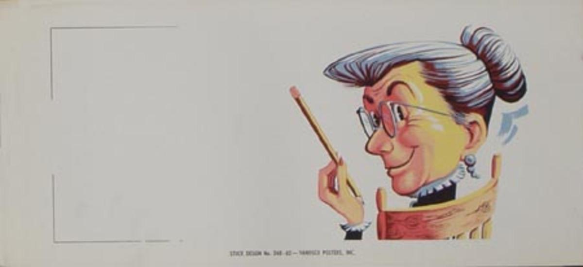 Stock Original Vintage Advertising Poster Old Lady