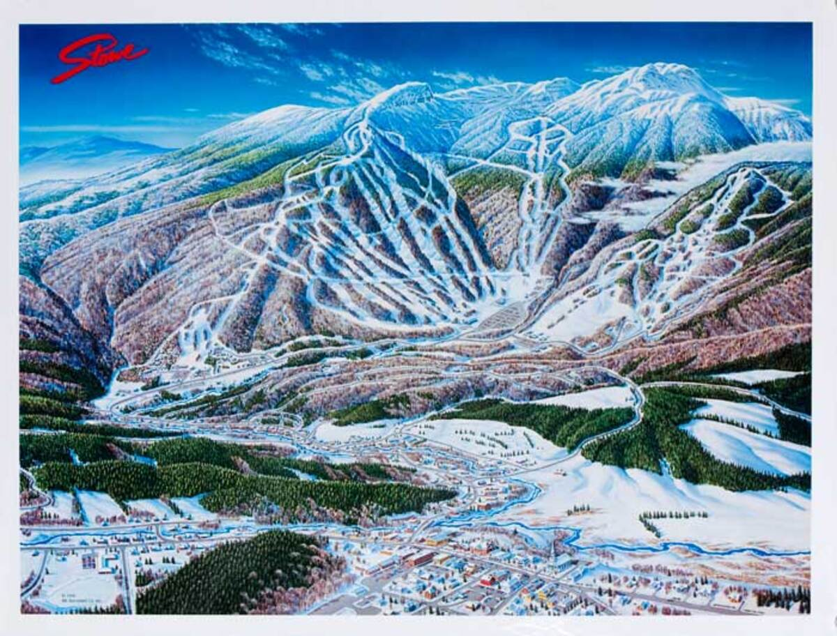 Stowe Vermont Original Ski Travel Poster