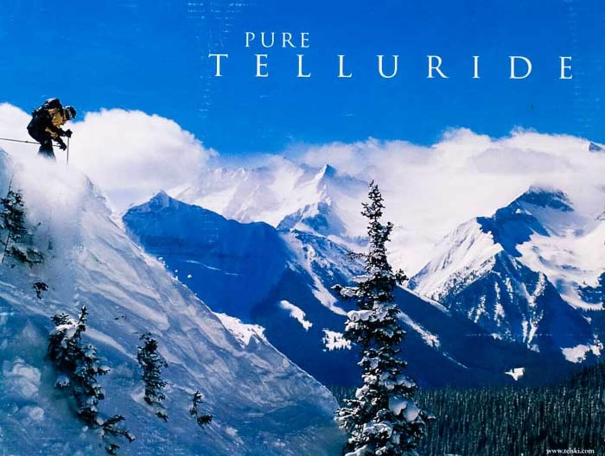 Pure Telluride Original Ski Travel Poster