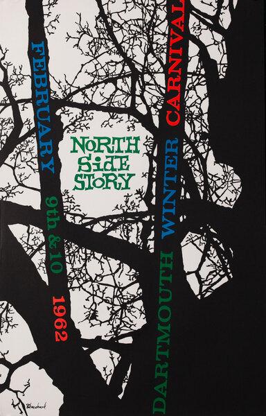 Dartmouth Winter Carnival, Original 1962 Ski Poster