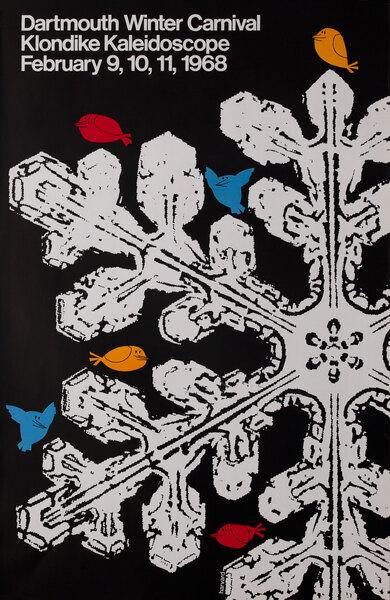 Dartmouth Winter Carnival, Original 1968 Ski Poster