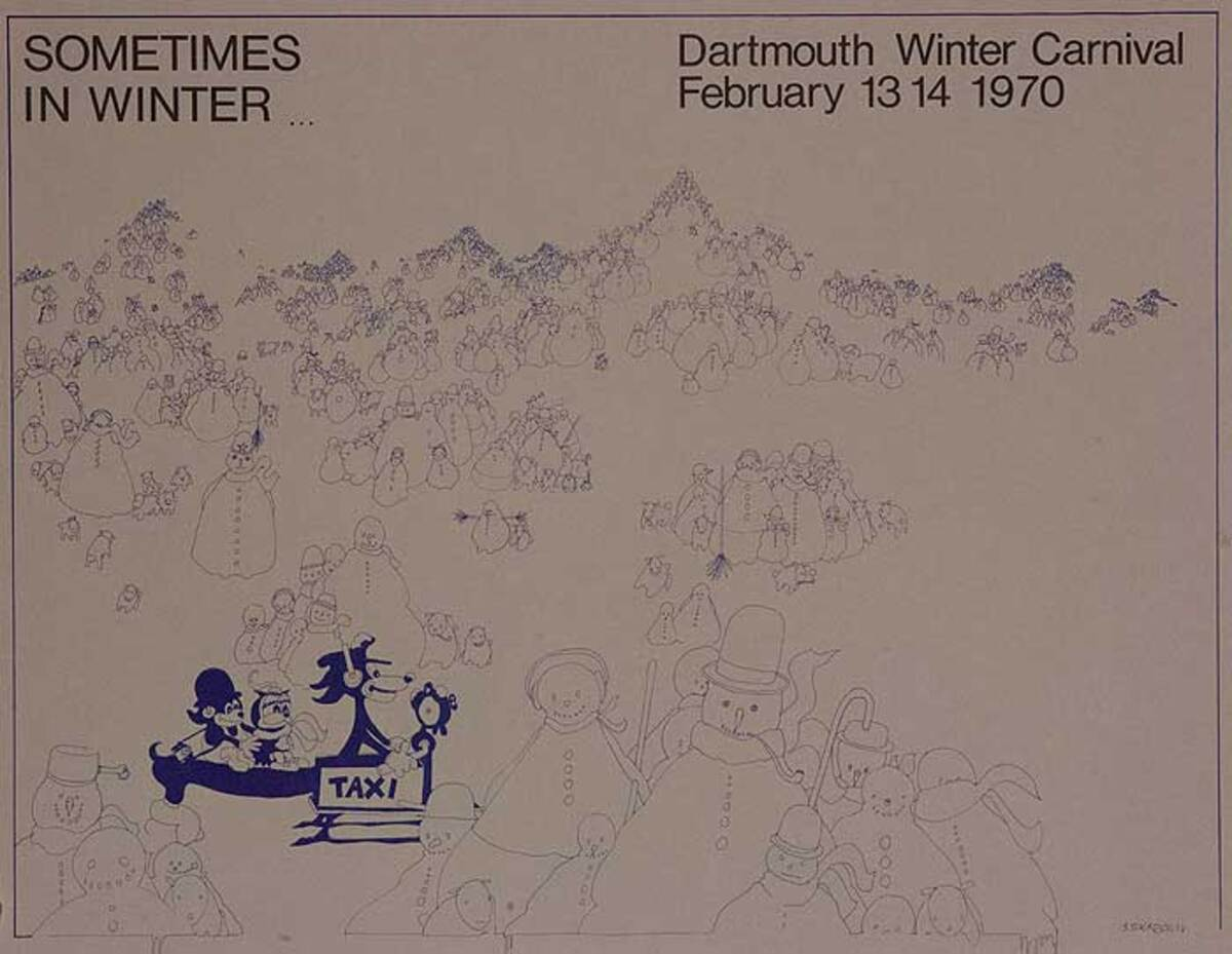 Dartmouth Winter Carnival, Original 1970 Ski Poster