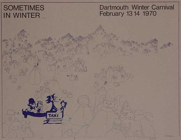 Dartmouth Winter Carnival, Original 1970 Ski Poster