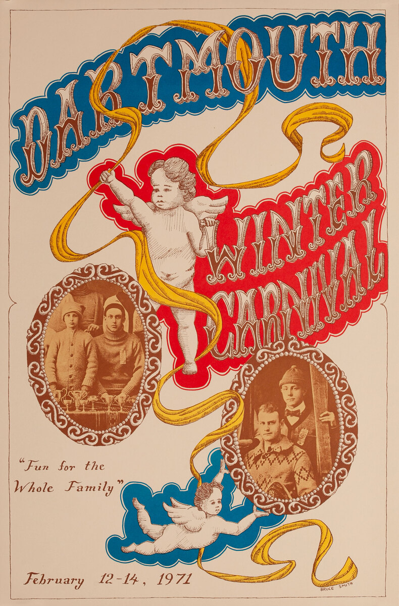 Dartmouth Winter Carnival, Original 1971 Ski Poster