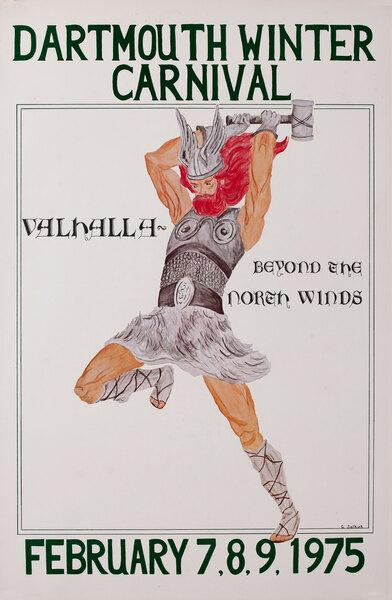 Dartmouth Winter Carnival, Original 1975 Ski Poster