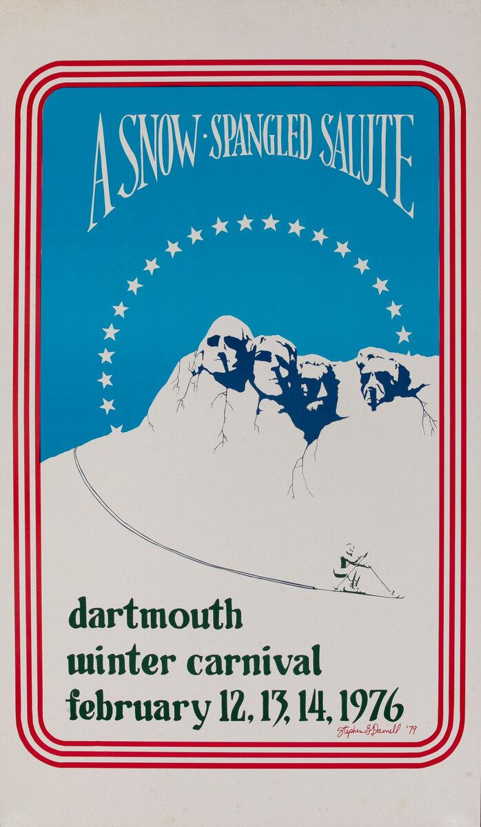 Dartmouth Winter Carnival, Original 1976 Ski Poster